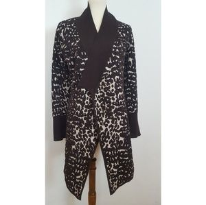 One A Long Animal Print Cardigan size S/M